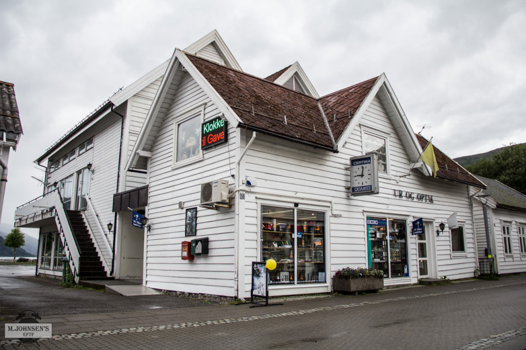 Austsida av butikken i dag.